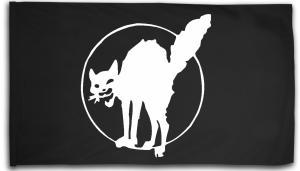 Fahne / Flagge (ca. 150x100cm): Katze