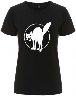 tailliertes Fairtrade T-Shirt: Katze