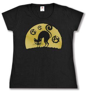 tailliertes T-Shirt: Katze mit A