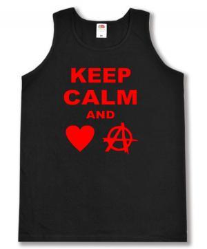 Tanktop: Keep calm and love anarchy