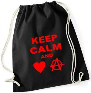 Sportbeutel: Keep calm and love anarchy