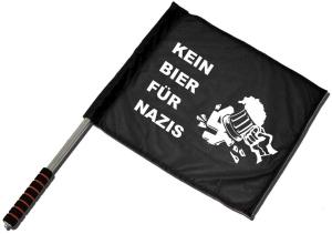 Fahne / Flagge (ca. 40x35cm): Kein Bier für Nazis