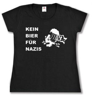 tailliertes T-Shirt: Kein Bier für Nazis