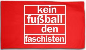 Fahne / Flagge (ca. 150x100cm): Kein Fußball den Faschisten