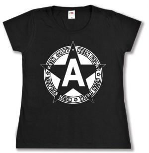 tailliertes T-Shirt: Kein Gott Kein Staat Kein Herr Kein Sklave