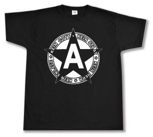 T-Shirt: Kein Gott Kein Staat Kein Herr Kein Sklave