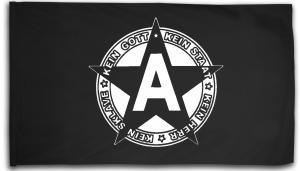 Fahne / Flagge (ca. 150x100cm): Kein Gott Kein Staat Kein Herr Kein Sklave