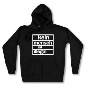 taillierter Kapuzen-Pullover: Kein Mensch ist Illegal