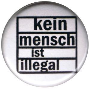 37mm Magnet-Button: kein mensch ist illegal