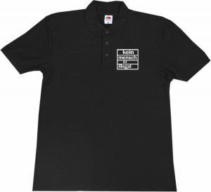 Polo-Shirt: kein mensch ist illegal