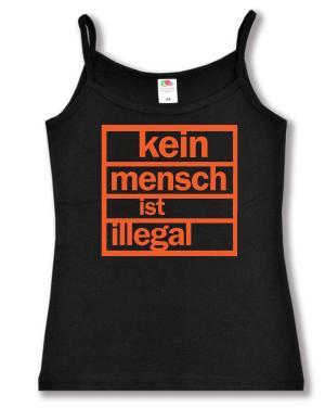 Trägershirt: Kein Mensch ist illegal (orange)