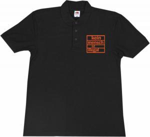 Polo-Shirt: Kein Mensch ist illegal (orange)