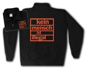 Sweat-Jacket: Kein Mensch ist illegal (orange)
