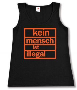 tailliertes Tanktop: Kein Mensch ist illegal (orange)