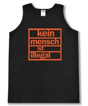 Tanktop: Kein Mensch ist illegal (orange)