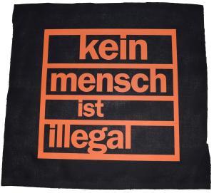 Rückenaufnäher: Kein Mensch ist illegal (orange)
