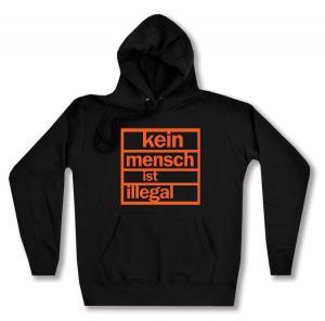 taillierter Kapuzen-Pullover: Kein Mensch ist illegal (orange)