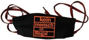 Mundmaske: Kein Mensch ist illegal (orange)