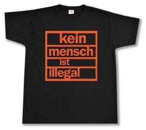 T-Shirt: Kein Mensch ist illegal (orange)