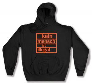 Kapuzen-Pullover: Kein Mensch ist illegal (orange)