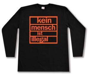 Longsleeve: Kein Mensch ist illegal (orange)