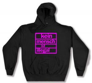 Kapuzen-Pullover: Kein Mensch ist illegal (pink)