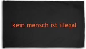 Fahne / Flagge (ca. 150x100cm): kein mensch ist illegal - Text