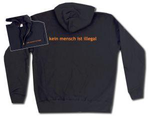 Kapuzen-Jacke: kein mensch ist illegal - Text