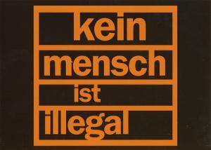 Postkarte: kein mensch ist illegal