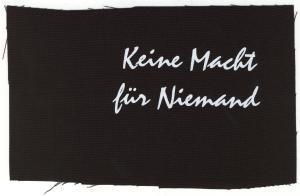 KEINE MACHT FÜR NIEMAND Girlie-T-Shirt schwarz
