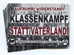 Aufkleber-Paket: Klassenkampf statt Vaterland!