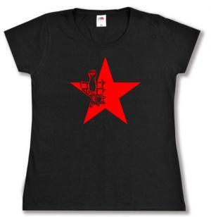 tailliertes T-Shirt: Knaststern