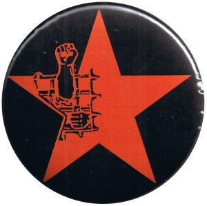 50mm Button: Knaststern (rot, mit schwarzem Hintergrund)