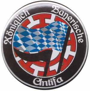 37mm Button: Königlich Bayerische Antifa Mühldorf