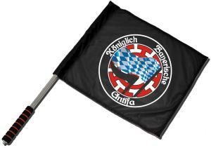 Fahne / Flagge (ca. 40x35cm): Königlich Bayerische Antifa Mühldorf