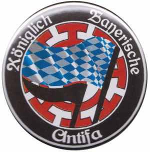 50mm Magnet-Button: Königlich Bayerische Antifa Mühldorf