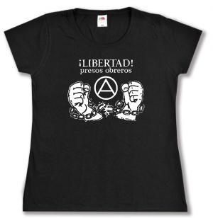tailliertes T-Shirt: Libertad presos obreros!