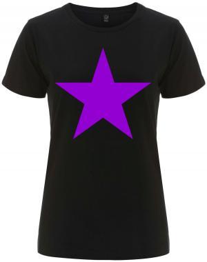 tailliertes Fairtrade T-Shirt: Lila Stern