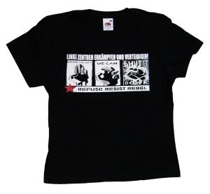 tailliertes T-Shirt: Linke Zentren erkämpfen und verteidigen!