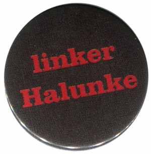 37mm Magnet-Button: linker Halunke