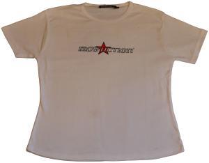 tailliertes T-Shirt: logo weiß