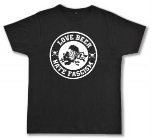 Fairtrade T-Shirt: Love Beer Hate Fascism