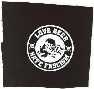 Aufnäher: Love Beer Hate Fascism