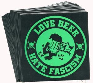 Aufkleber-Paket: Love Beer Hate Fascism