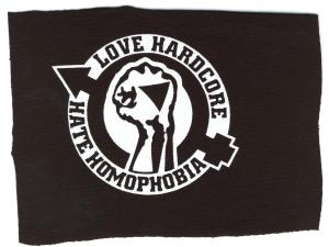 Aufnäher: Love Hardcore - Hate Homophobia
