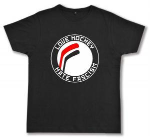 Fairtrade T-Shirt: Love Hockey Hate Fascism