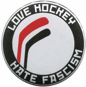 25mm Button: Love Hockey Hate Fascism