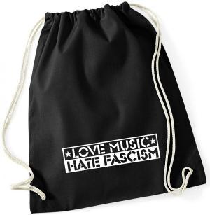 Sportbeutel: Love Music Hate Fascism