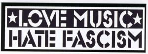Aufkleber: Love Music Hate Fascism