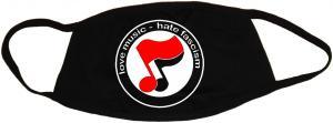 Mundmaske: love music - hate fascism (Noten)